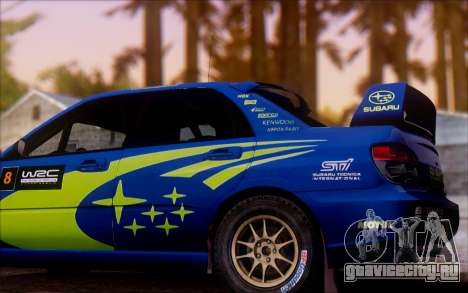 Subaru Impreza WRX STI WRC для GTA San Andreas вид слева
