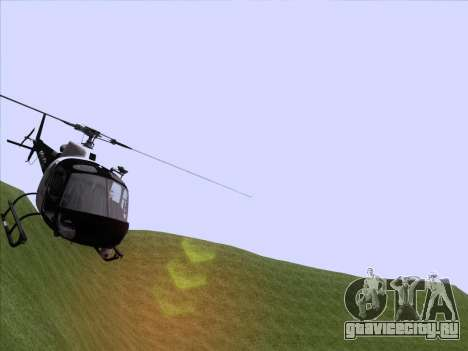 Police Maverick GTA 5 для GTA San Andreas вид сзади слева