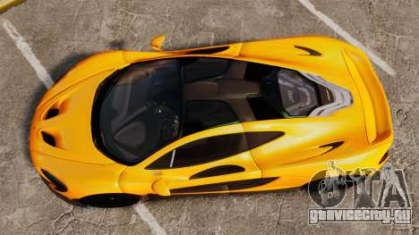 McLaren P1 2013 для GTA 4 вид справа