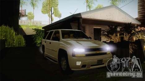Chevrolet Trail Blazer для GTA San Andreas вид сзади