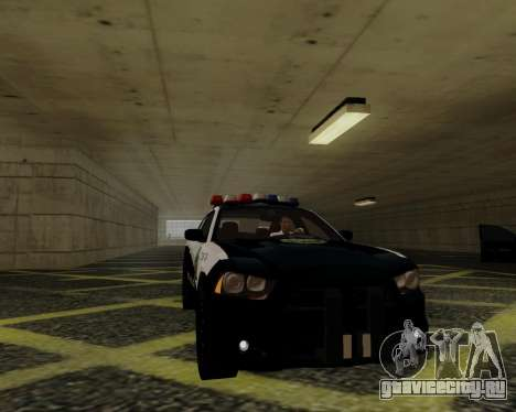 Dodge Charger 2012 Police IVF для GTA San Andreas вид сзади