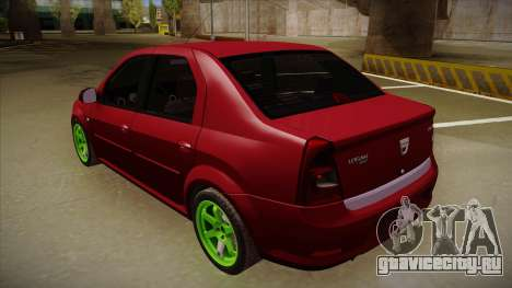Dacia Logan Hellaflush для GTA San Andreas вид справа