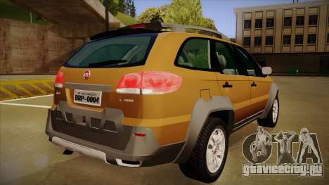 FIAT Palio Weekend Adventure Locker 2010 для GTA San Andreas вид сзади