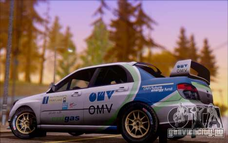 Subaru Impreza WRX STI WRC для GTA San Andreas вид сбоку