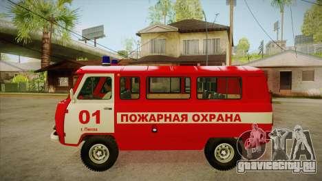 UAZ 452 Пожарный штабной для GTA San Andreas вид слева