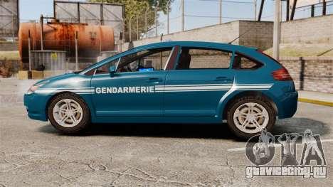 Citroen C4 Gendarmerie [ELS] для GTA 4 вид слева