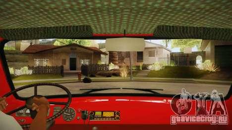 UAZ 452 Пожарный штабной для GTA San Andreas вид изнутри