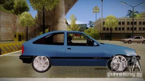 Chevrolet Kadett для GTA San Andreas вид сзади слева