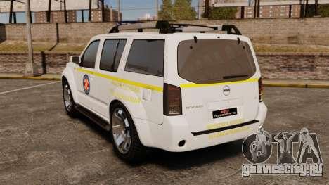Nissan Pathfinder HGSS [ELS] для GTA 4 вид сзади слева