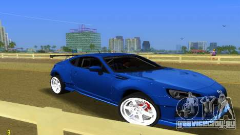 Subaru BRZ Type 5 для GTA Vice City вид сзади слева