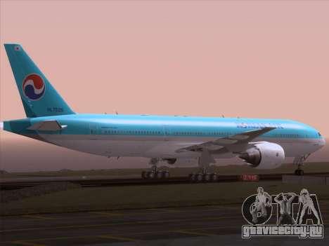 Boeing 777-2B5ER Korean Air для GTA San Andreas вид сверху
