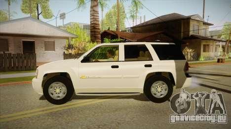 Chevrolet Trail Blazer для GTA San Andreas вид слева