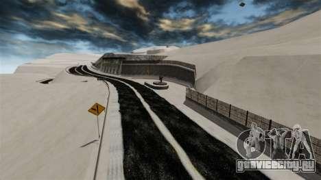 Снежная локация Sakina для GTA 4 восьмой скриншот
