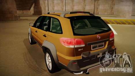FIAT Palio Weekend Adventure Locker 2010 для GTA San Andreas вид справа