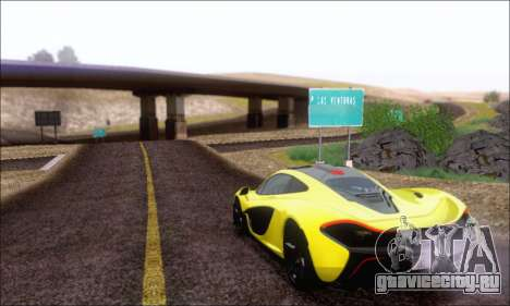 McLaren P1 EPM для GTA San Andreas вид изнутри