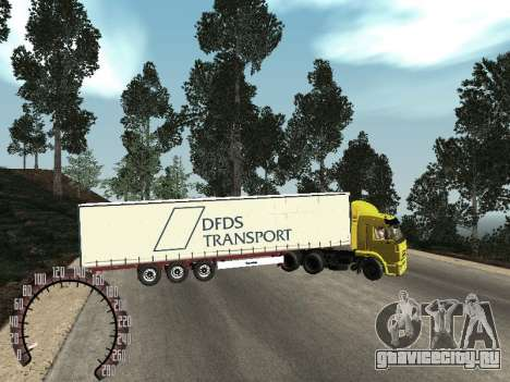 Прицеп для КамАЗ 54115 для GTA San Andreas