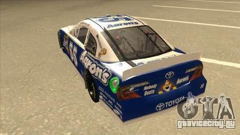 Toyota Camry NASCAR No. 55 Aarons DM blue-white для GTA San Andreas вид сзади