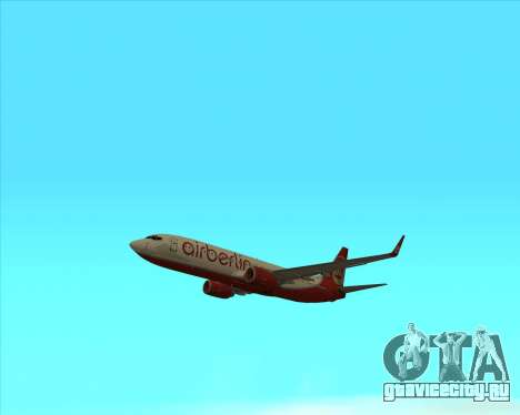 Boeing 737-800 для GTA San Andreas вид справа