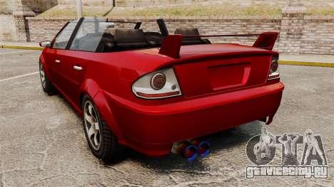 Тюнинг-кабриолет версия Premier для GTA 4 вид сзади слева