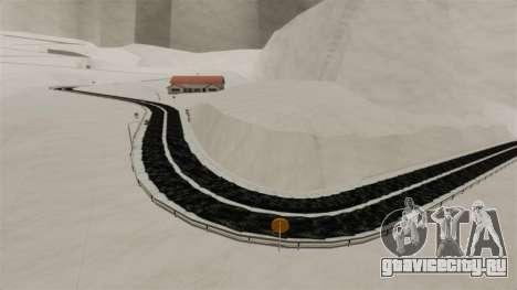 Снежная локация Sakina для GTA 4 пятый скриншот