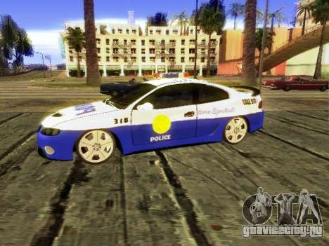 Pontiac GTO Pursit Edition для GTA San Andreas вид сзади слева