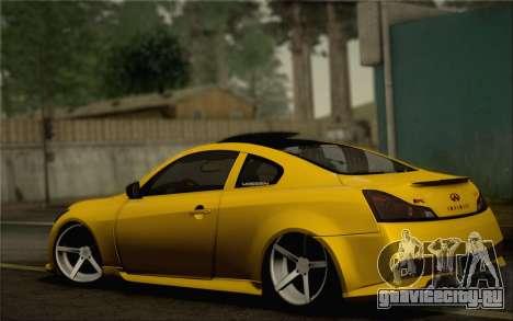 Infiniti G37 IPL для GTA San Andreas колёса