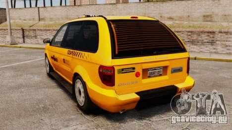 Dodge Grand Caravan 2005 Taxi NYC для GTA 4 вид сзади слева