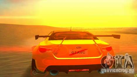 Subaru BRZ Type 5 для GTA Vice City вид изнутри