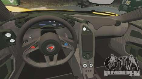 McLaren P1 2013 для GTA 4 вид изнутри