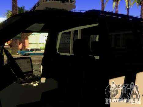 Ford Explorer 2010 Police Interceptor для GTA San Andreas вид сбоку