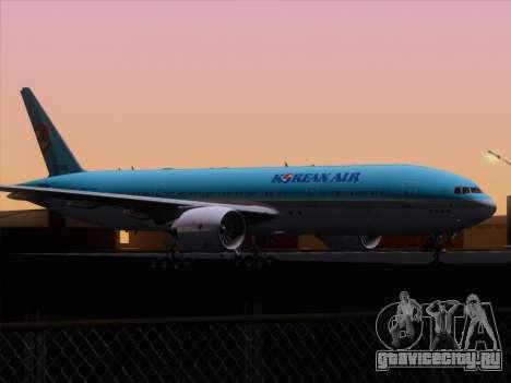 Boeing 777-2B5ER Korean Air для GTA San Andreas вид снизу