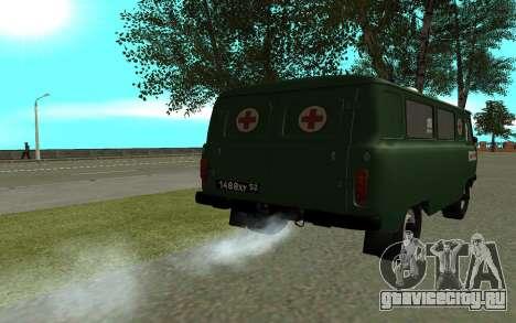 УАЗ 452 Скорая помощь для GTA San Andreas вид сзади слева
