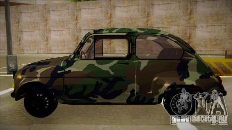 Zastava 750 Camo для GTA San Andreas вид сзади слева