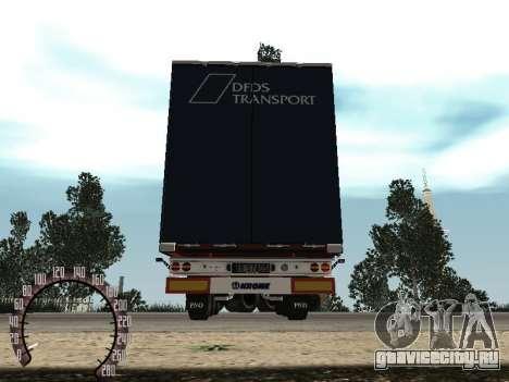 Прицеп для КамАЗ 54115 для GTA San Andreas вид сзади