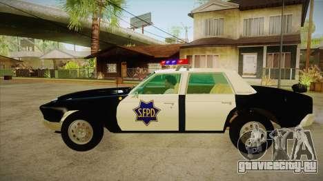 Fasthammer Police SF для GTA San Andreas вид слева