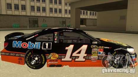 Chevrolet SS NASCAR No. 14 Mobil 1 Bass Pro Shop для GTA San Andreas вид сзади слева