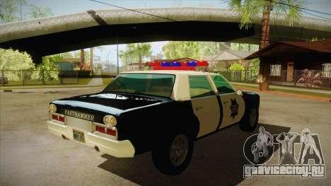 Fasthammer Police SF для GTA San Andreas вид справа