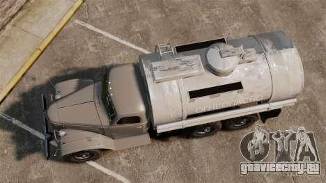 ЗИЛ-157 Бензовоз для GTA 4 вид справа
