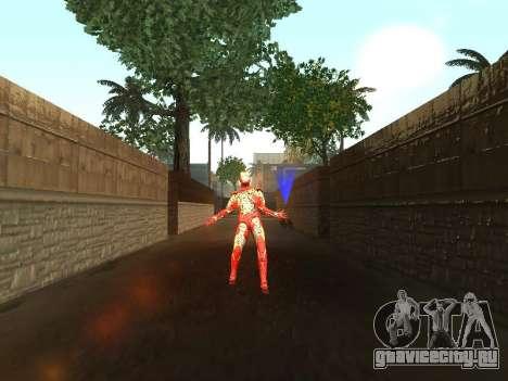 Удар железного человека о землю для GTA San Andreas