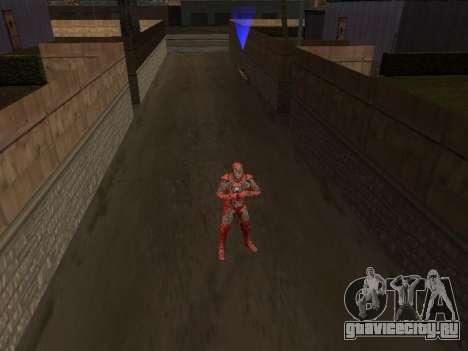 Удар железного человека о землю для GTA San Andreas второй скриншот