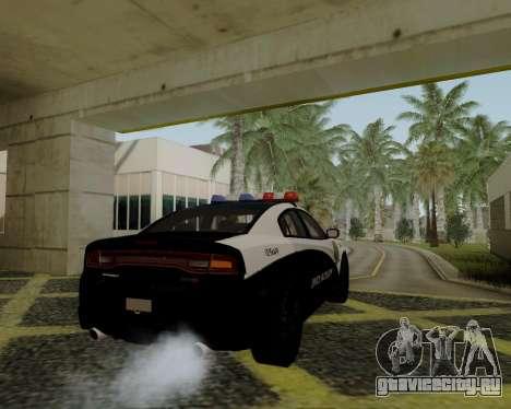 Dodge Charger 2012 Police IVF для GTA San Andreas вид слева