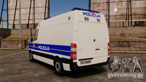 Mercedes-Benz Sprinter Croatian Police v2 [ELS] для GTA 4 вид сзади слева