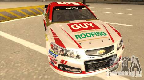 Chevrolet SS NASCAR No. 51 Guy Roofing для GTA San Andreas вид слева
