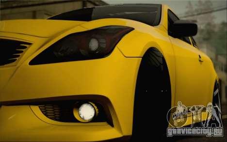 Infiniti G37 IPL для GTA San Andreas двигатель
