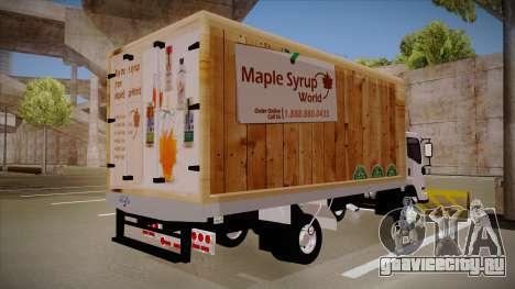 Chevrolet FRR Maple Syrup World для GTA San Andreas вид сзади слева