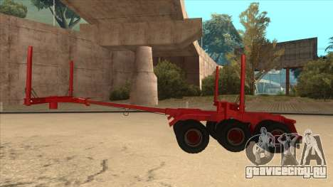 1-ый полуприцеп-лесовоз к Hayes H188 для GTA San Andreas вид сзади