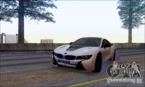 BMW I8 для GTA San Andreas вид сзади