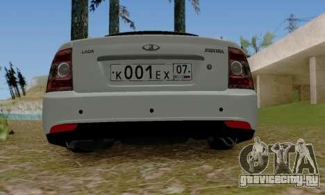 ВАЗ 2170 Новый Люкс для GTA San Andreas вид сзади слева