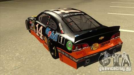 Chevrolet SS NASCAR No. 14 Mobil 1 Bass Pro Shop для GTA San Andreas вид сзади