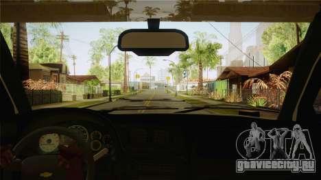 Chevrolet Trail Blazer для GTA San Andreas вид изнутри
